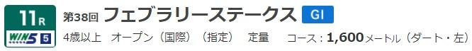 G1 フェブラリーステークス
