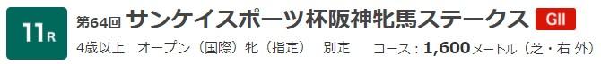 G2 サンスポ杯阪神牝馬ステークス