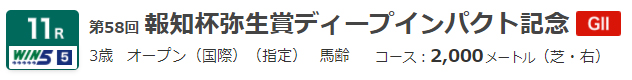 G2 弥生賞ディープ記念2021